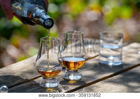 Tasting Of Scotch Single Malt Whisky From Islay Island, Most Intensely Flavoured Of All Whiskies In