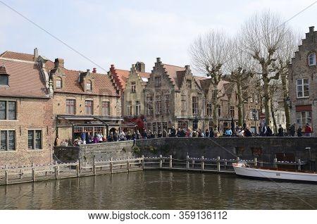 Dijver Canal  In Brugge
