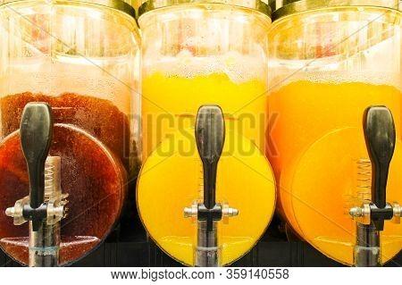 Juice Slush Freezer Machine With Colorful Frozen Drinks, Make All Kinds Of Cold Beverages To Enjoy D