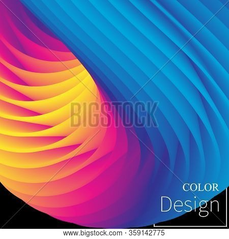 Fluid Flow. Liquid Color. Fluid Background. Colorful Futuristic Poster. Abstract Flow. Vibrant Color