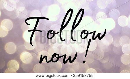 Follow Now Follower On Social Media Instagram