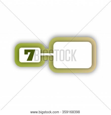 Paper Cut Number Seven Letter. Realistic 3d Multi Layers Papercut Effect Isolated On White Backgroun