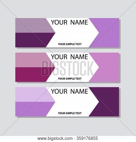 Abstract Corporate Business Banner Template, Horizontal Advertising Business Banner Layout Template