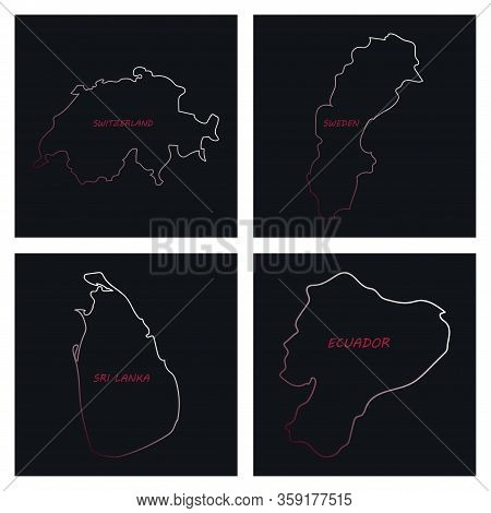 World Map-countries In Color On White Background