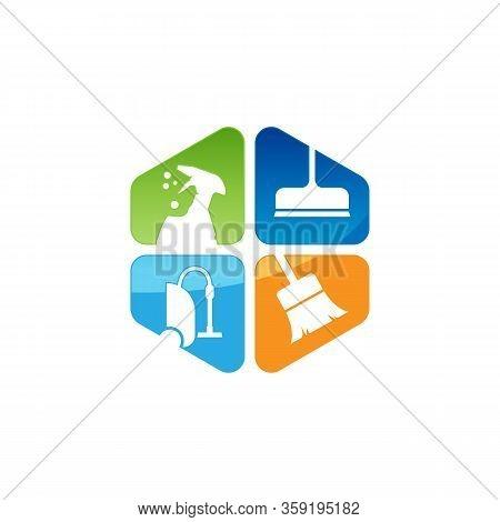 Cleaning Service Vector Logo Emblem