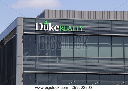 Indianapolis - Circa April 2020: Duke Realty Corporate Headquarters. Duke Realty Owns And Operates M