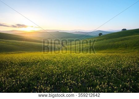 Trial Path Peak Tatra Mountains Sun Sunset Sunrise Nature Background Clouds Panorama Nature Backgrou