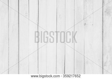 Wood Plank White Timber Texture Background. Old Wooden Wall All