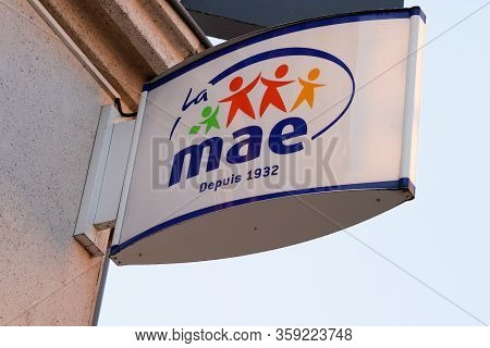 Bordeaux , Aquitaine / France - 01 15 2020 : Mae Logo Store Sign French Multinational Insurance
