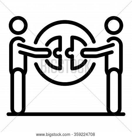 Unity Together People Icon. Outline Unity Together People Vector Icon For Web Design Isolated On Whi