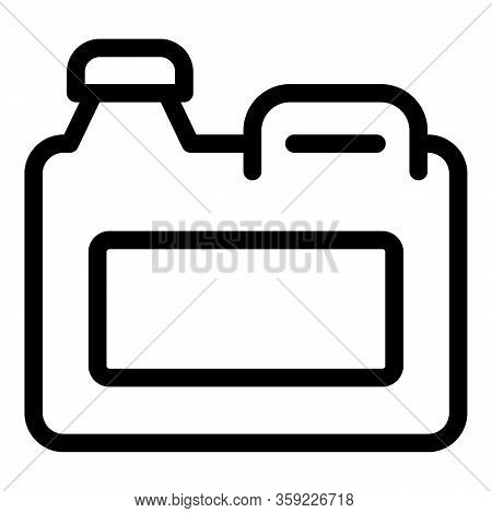 Ecology Canister Icon. Outline Ecology Canister Vector Icon For Web Design Isolated On White Backgro