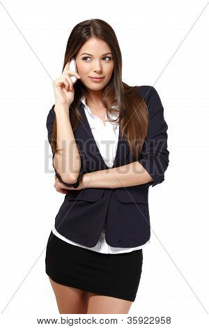 Young Businesswoman Making A Call