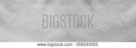 Vintage White Abstract Background, Old Wall Surface Banner. Horizontal Long Retro Grey Color Surface