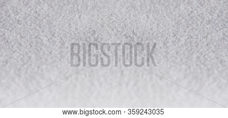 Rough White Texture Grainy Grunge Background. Horizontal Gradient Light Grey Banner, Bright Gray Wal