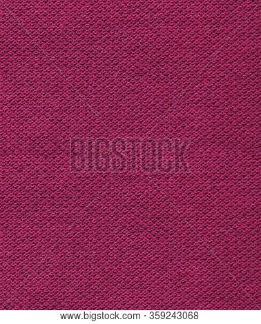 Violet Fabric Texture Background, Abstract Close Up Detailed Dark Burgundy Cloth. Empty Vertical Bro