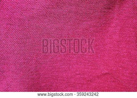 Purple Fabric Texture, Violet Color Cloth Surface Background. Seamless Textile Pattern, Natural Cott