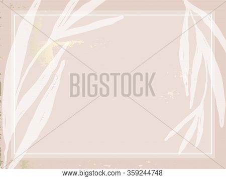 Trendy Chic Nude Pink Gold Blush Background For Social Media, Advertising, Banner, Invitation Card,