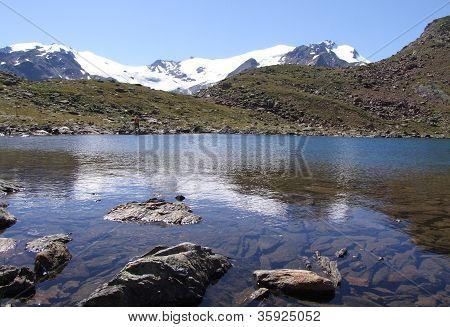 Lake on high mountain