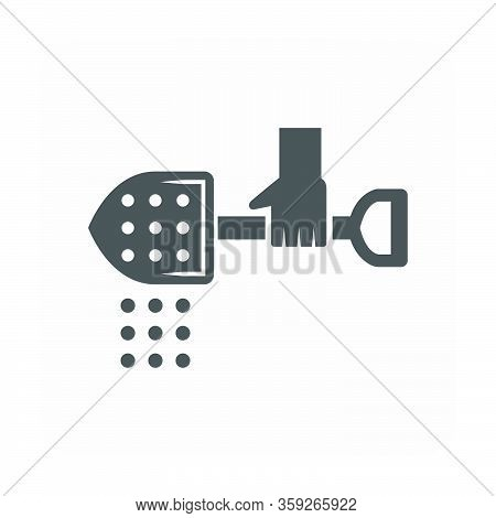 Concrete Slab Casting And Equipment Icon On Whiite.