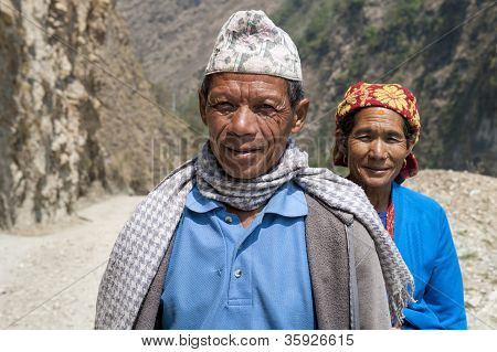 Sherpa Couple Are Going To Local Market
