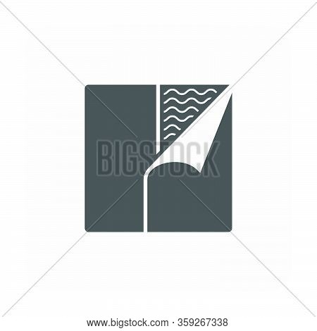Waterproof And Equipment Vector Icon On White.