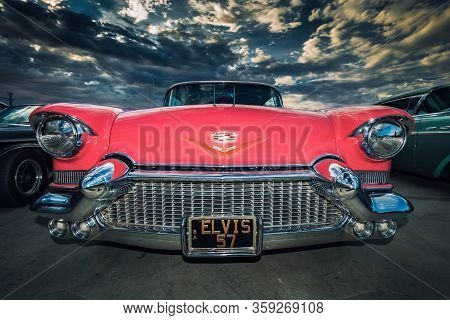 Adelaide, Australia - November 2, 2013: 1957 Cadillac Eldorado Seville 2-door Coupe Restored To Imma