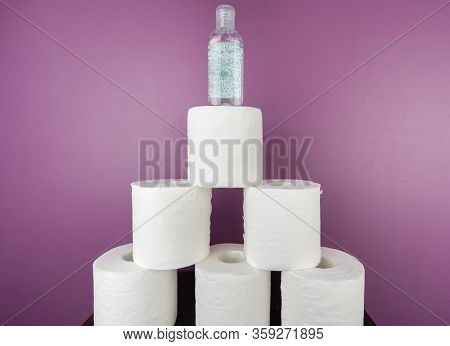 Pyramid Of Priorities Of What Has Become Most Important In The Pandemic, Loo Paper And Hand Sanitize