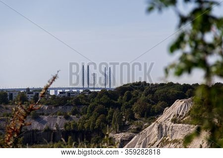 The View From The Edge Of The Protected Area Called Kalkbrottet, An Abandoned Limestone Quarry, Is A