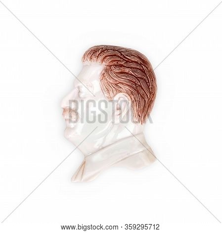 Magnetic Souvenir From Georgia Isolated On White Background: Joseph Stalin