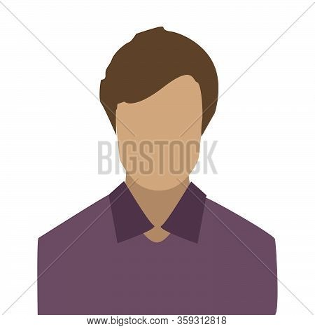 Avatar Profile Icon  Man Icon In Flat Style Isolated On White Background. User Silhouette Symbol For