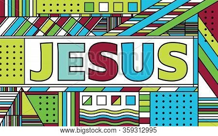 Jesus Abstract Theme Illustration