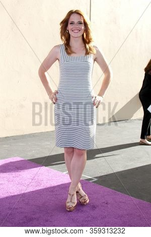 LOS ANGELES - MAY 19:  Katie Leclerc at the Disney Media Networks International Upfronts at the Walt Disney Studios on May 19, 2012 in Burbank, CA