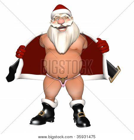 Santa Flashing In A Reindeer Thong