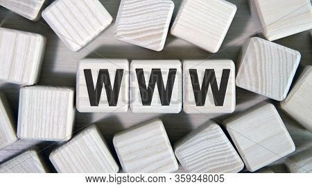 Www Text On Wooden Square Cubes Surrounded By Other Cubes