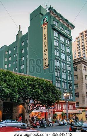 San Francisco, Usa - Sept 23, 2008: The Historic King George Hotel At Mason Street Just Few Steps Fr