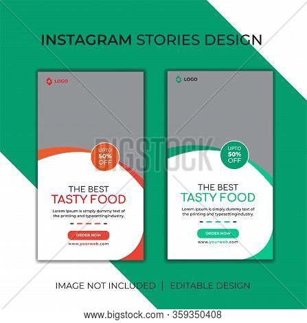 Food Instagram Social Media Post Template for Restaurant. Food & culinary instagram Post promotion template Premium Vector. Instagram story template collection. Delicious Food Social media post Design template for vector illustration Eps 10.