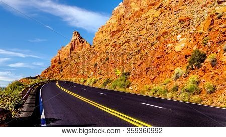 Highway 89 At The Grand Canyon Vista Point Between Marble Canyon And Page, Arizona, United States