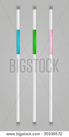 Vector Sliders Scroll Web Bars Set, eps 10 poster