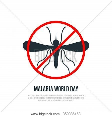 World Malaria Day Vector Banner. Modern Design Suitable For Brochure, Poster And Banner. Stop Mosqui