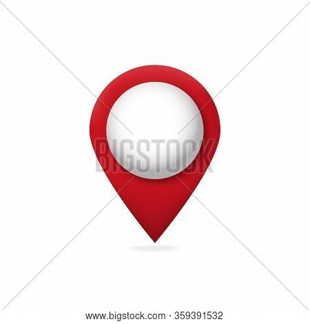 3d Map Pointer .  Gps Marker . Red Map Pin .