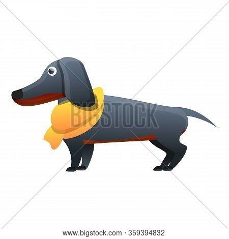 Dachshund Animal Icon. Cartoon Of Dachshund Animal Vector Icon For Web Design Isolated On White Back