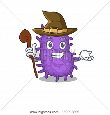 Bacteria Bacilli Sneaky And Tricky Witch Cartoon Character