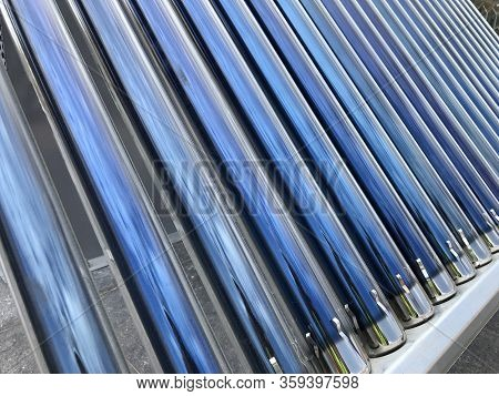 Close Up Of Brand New Solar Heating Elements