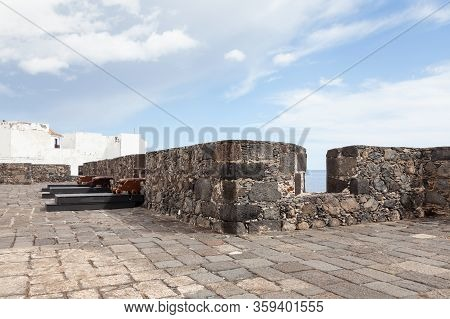 Santa Cruz De La Palma, Spain - November 5:  Ramparts From The Castle Of Santa Catalina Are Pictured