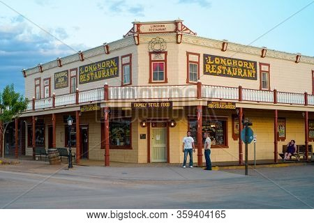 Tombstone, Arizona, United States - July 12 2009: Longhorn Restaurant Saloon In Tombstone, Arizona,