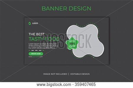 Food Social Media banner Template. Promotion of web banner for social media. Delicious Food Social media post Design template for vector illustration Eps 10.