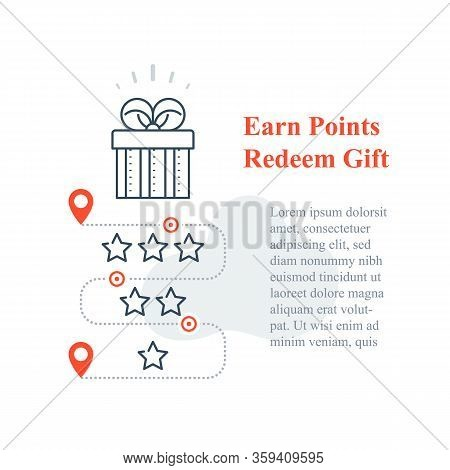 Gift Box, Reward Program, Incentive Present, Win Special Prize, Earn Loyalty Points, Collect Bonuses