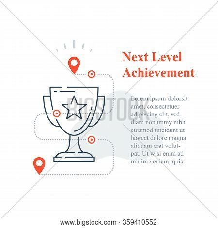 Competition Reward Concept, Excellence Award, Winner Cup, Strategy To Success, Next Level Improvemen