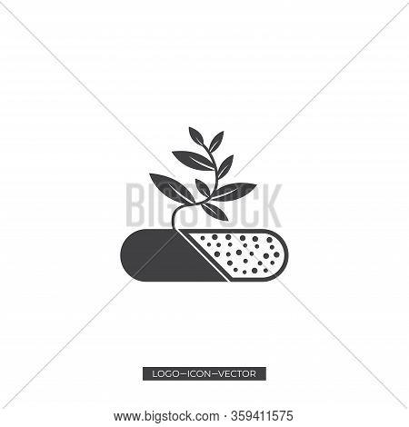 Healthy Real Estate Logo . Healthy Home Logo Template Vector Stock Vector . Home Leaf Logo Concept V