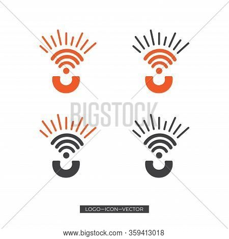 C/u Wifi Icon, Vector Illustration Of Grey Wifi Icon, Wireless And Wifi Icon Or Sign For Remote Inte